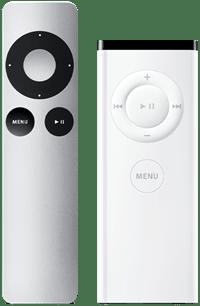 weiß und silber Apple Fernbedienungen