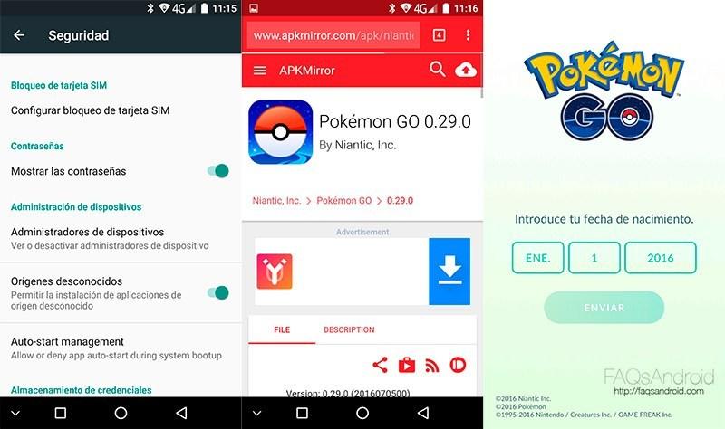 ich kann pokemon go apk nicht installieren