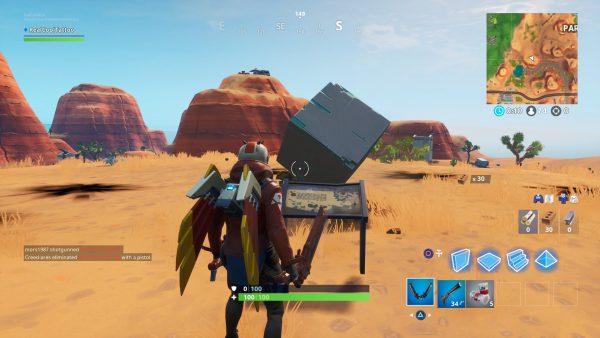 Fortnite: Besuchen Sie ein Denkmal für einen Würfel in der Wüste oder an einem See 3