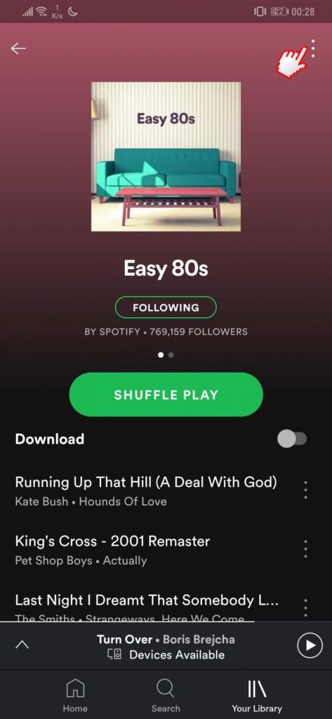 Spotify-Favoriten zum Speichern von Musiktiteln