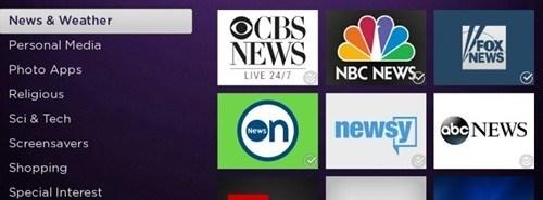 Offizielle kostenlose lokale TV-Kanäle im Roku Store