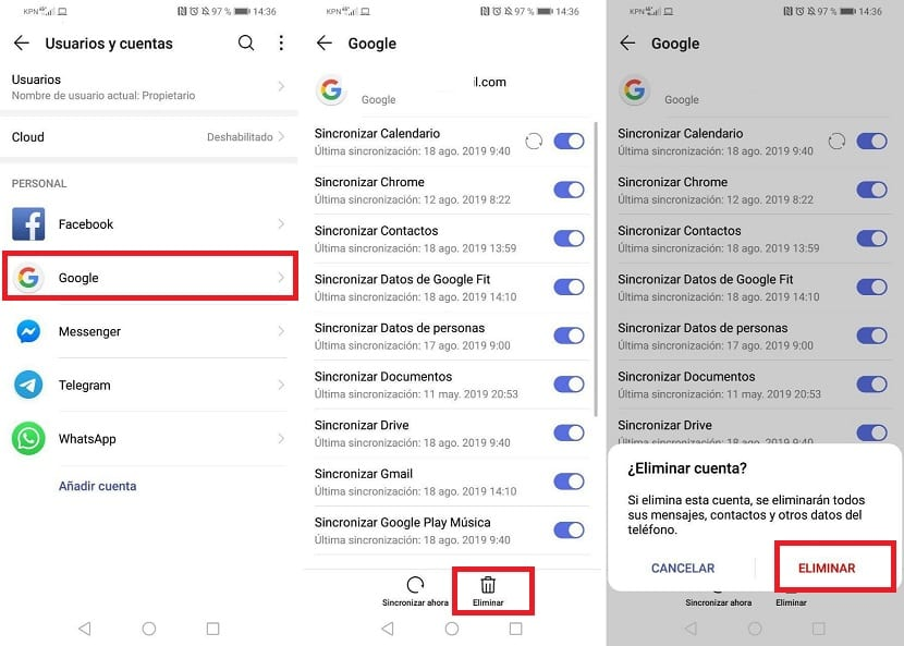 Google Android-Konto löschen