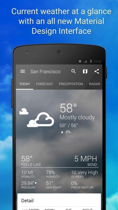 Beste Wetter Apps für Android installieren 4