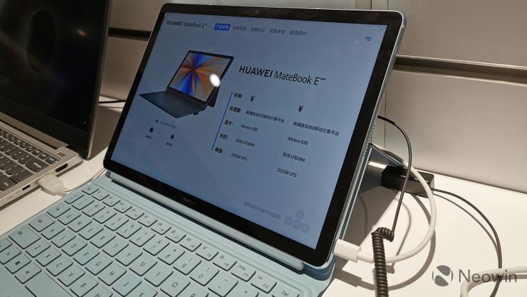 Ein (sehr) kurzer Blick auf das mit Snapdragon betriebene MateBook E von Huawei 2