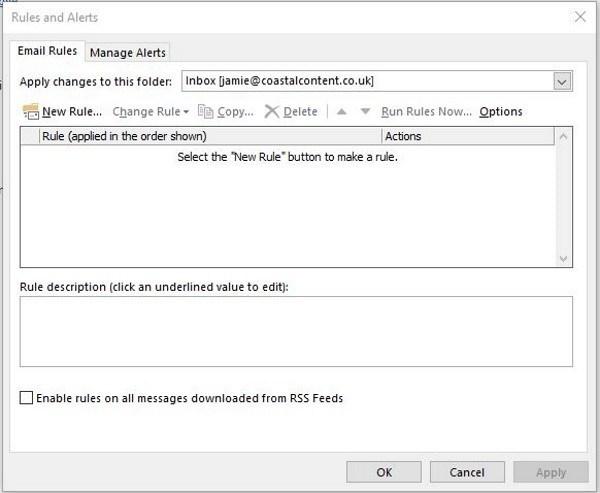 Automatisches Weiterleiten einer E-Mail in Outlook 2