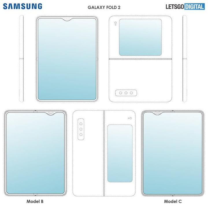 Samsung Galaxy Fold 2    Model dyfais plygu