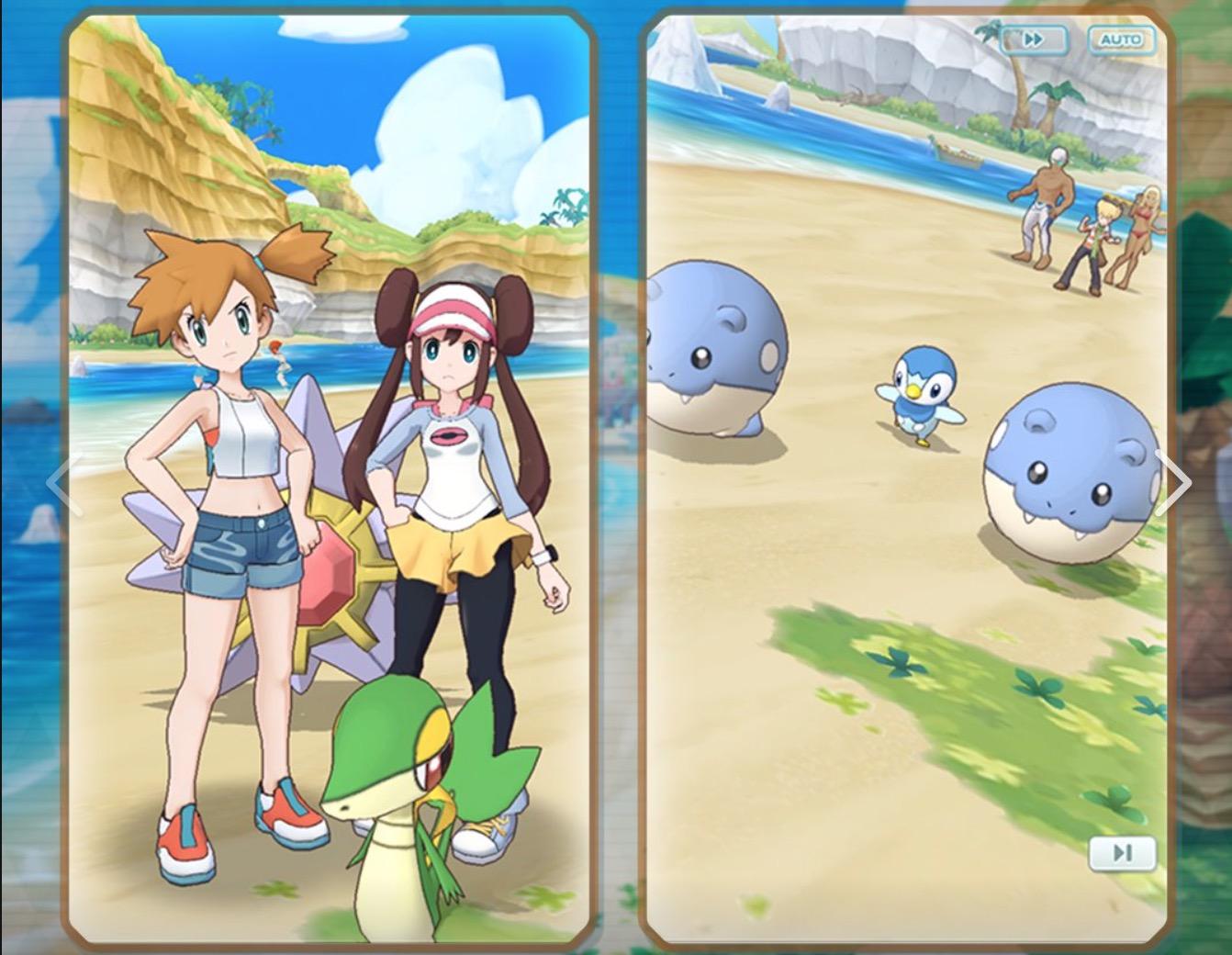 Kostenlose Pokemon Masters für iOS und Android. Dies ist ein Spiel, in dem ... Pokemon Trainer gesammelt werden 2