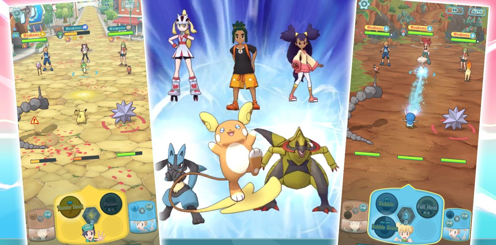 Kostenlose Pokemon Masters für iOS und Android. Dies ist ein Spiel, in dem ... Pokemon Trainer gesammelt werden 3
