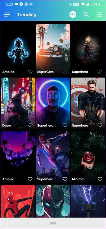 Wallpaper Apps für Samsung Note 10 plus 1