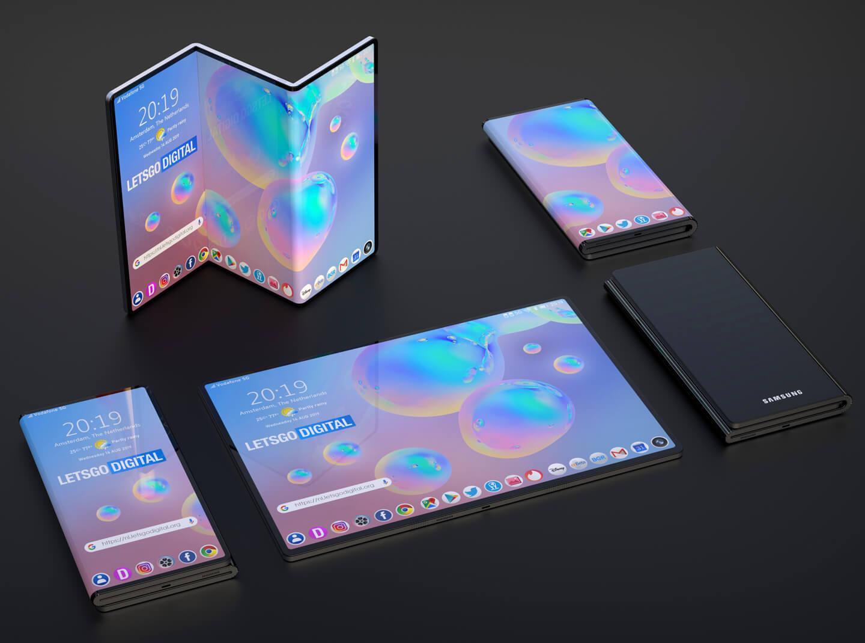 Samsung faltbar smartphones
