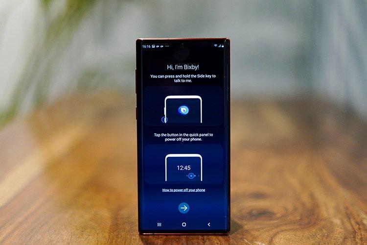 Das Note 10 Ermöglicht das Deaktivieren von Bixby über den Netzschalter