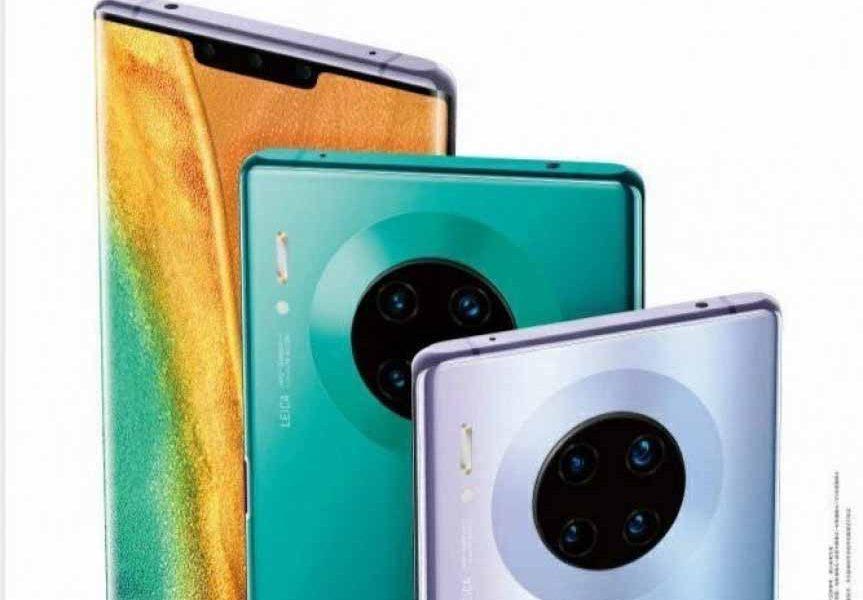 Das gefilterte Werbebild des Huawei Mate 30 Pro zeigt eine Quad-Kamera auf der Rückseite 1