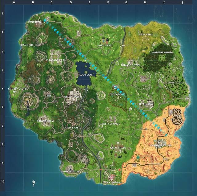Fortnite Staffel 5 Karte - Lazy Links, Paradise Palms Desert Area 1