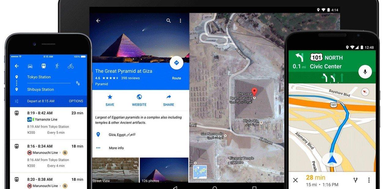 Google Maps wird erneuert und zeigt weitere Informationen an 1