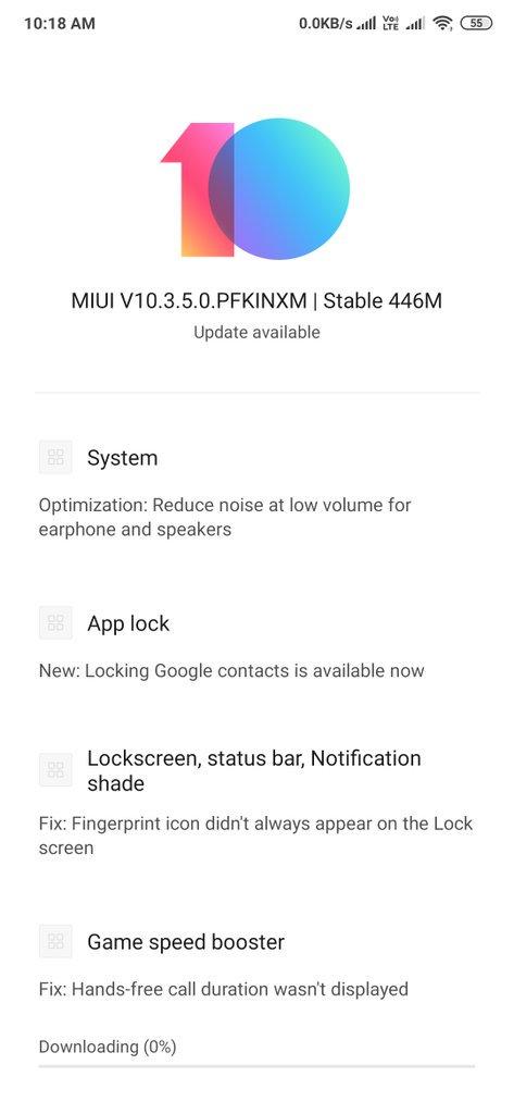 Neues MIUI 10 v10.3.5.0.PFKCINXM-Update für das Redmi K20 Pro. Xiaomi Addicted News