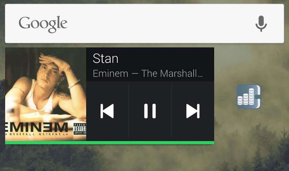 So stellen Sie das Spotify-Musik-Widget auf Android wieder her