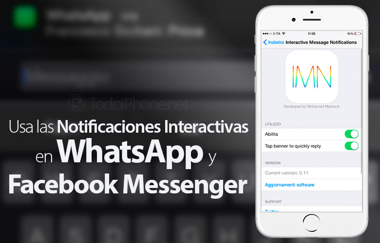 Verwendung der Schnellantworten in WhatsApp und Facebook Messenger 1