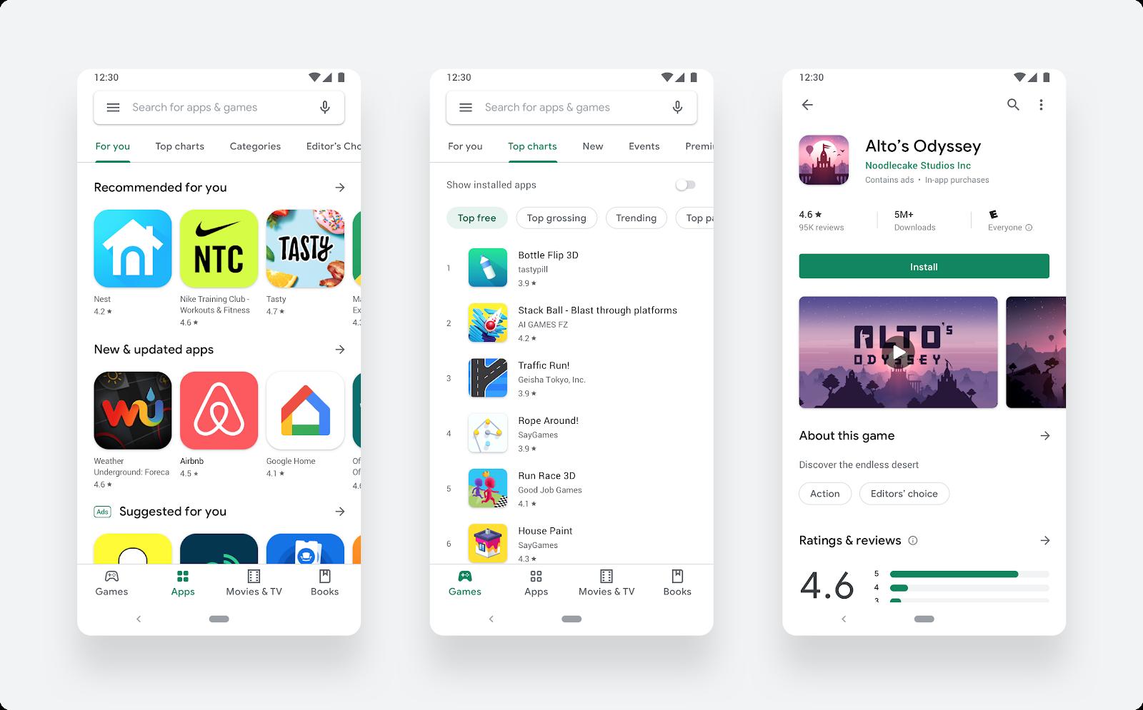 Visuelles Update des Google Play Store 1