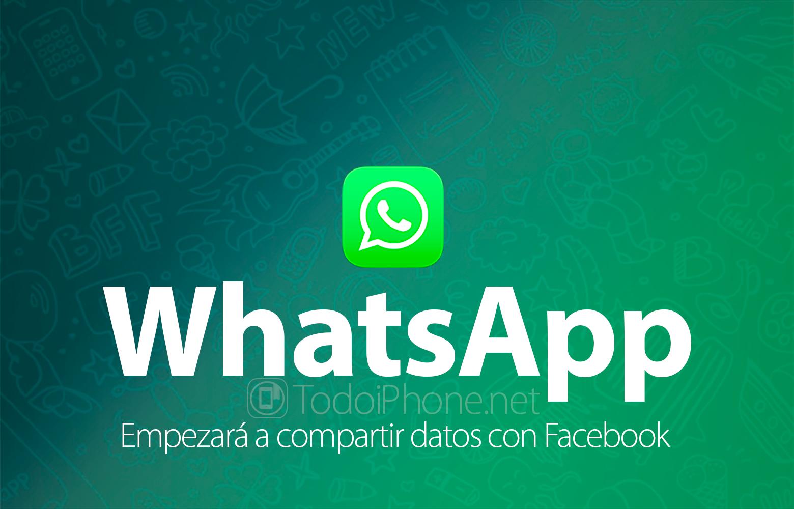 WhatsApp beginnt mit der Freigabe von Benutzerdaten Facebook 1