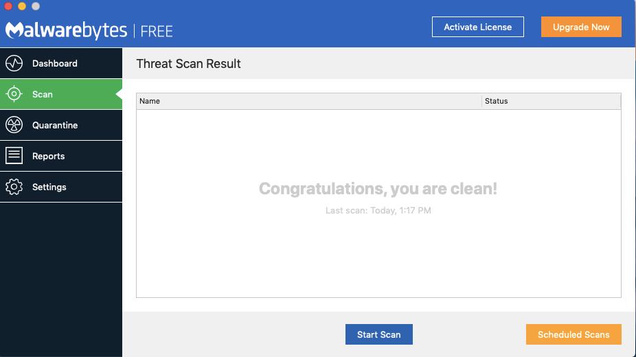 MalwareBytes - o melhor limpador de malware gratuito para Mac