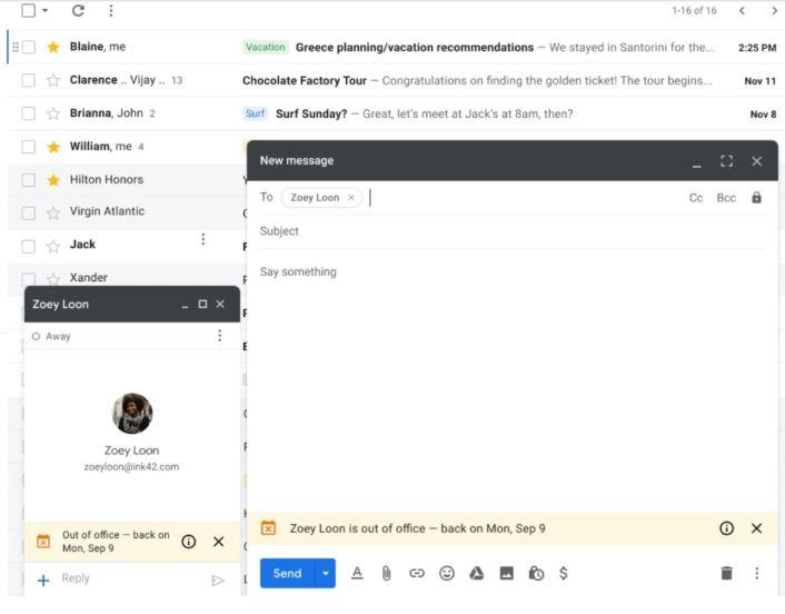 Google Mail benachrichtigt Ihre Kontakte, dass Sie im Urlaub sind, bevor Sie eine E-Mail senden 2
