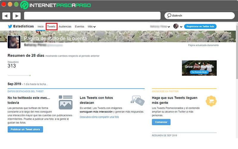 Ver el resumen de interacciones de los tweets y tasa de interacción