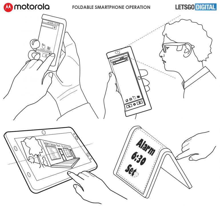 """Motorola qatlanabilən telefon patent müraciəti üzərinə sızır 5""""width ="""" 770 """"height ="""" 720"""