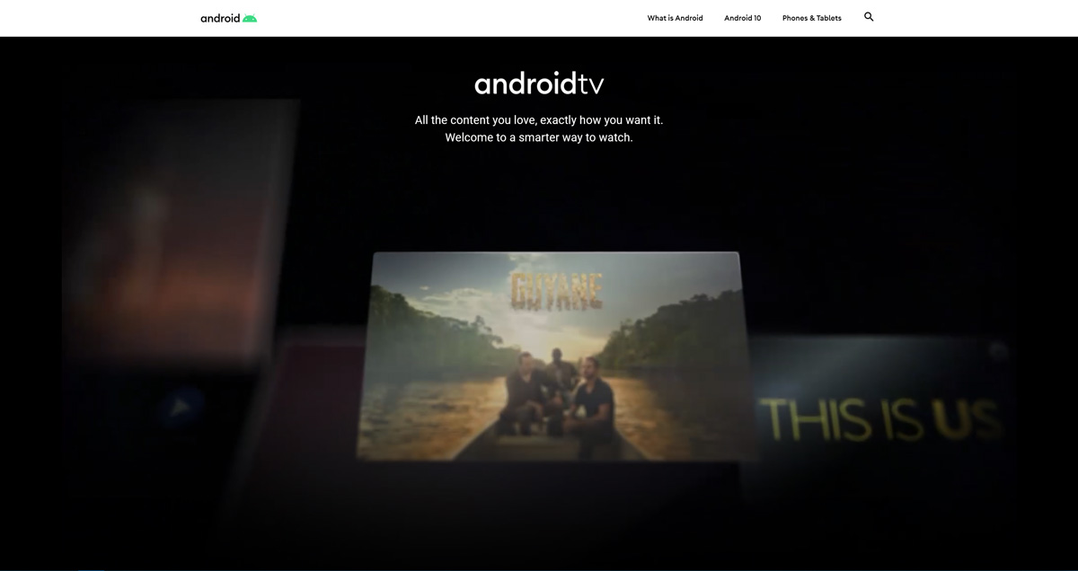 AndroidTV verweist auf Android Redesign