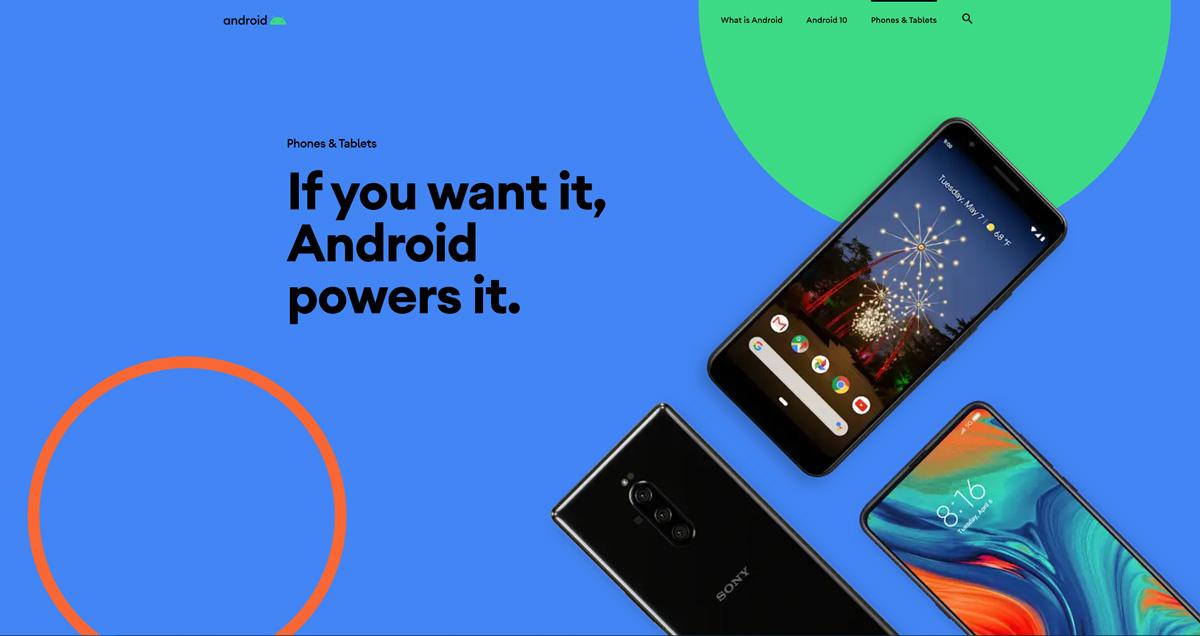 Mit der Einführung von Android 10 wird die Android-Website für das Biest erneuert 2