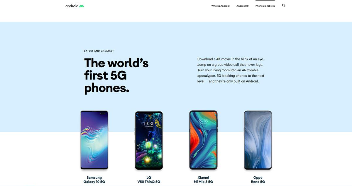 Mit der Einführung von Android 10 wird die Android-Website für das Biest erneuert 3