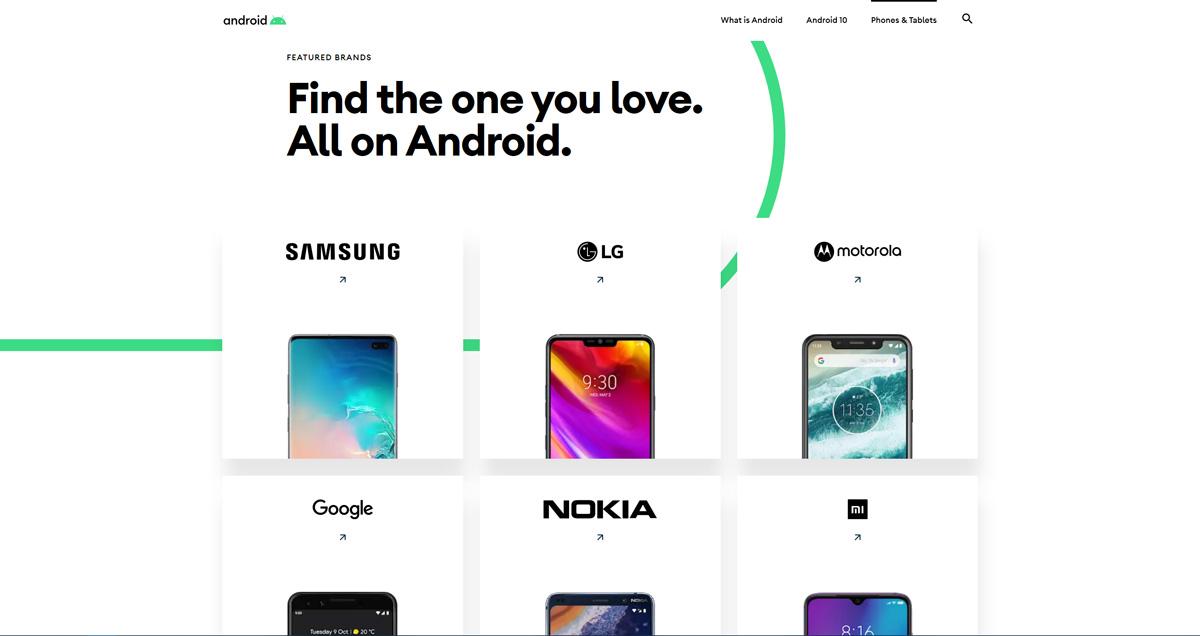 Mit der Einführung von Android 10 wird die Android-Website für das Biest erneuert 7