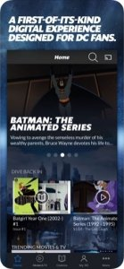 DC Universe Bildschirm