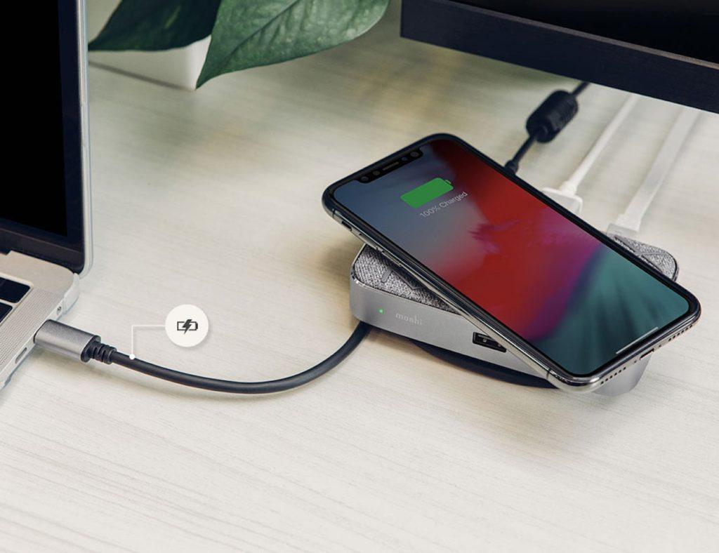 Moshi Symbus Q Wireless-Ladestation für USB-C