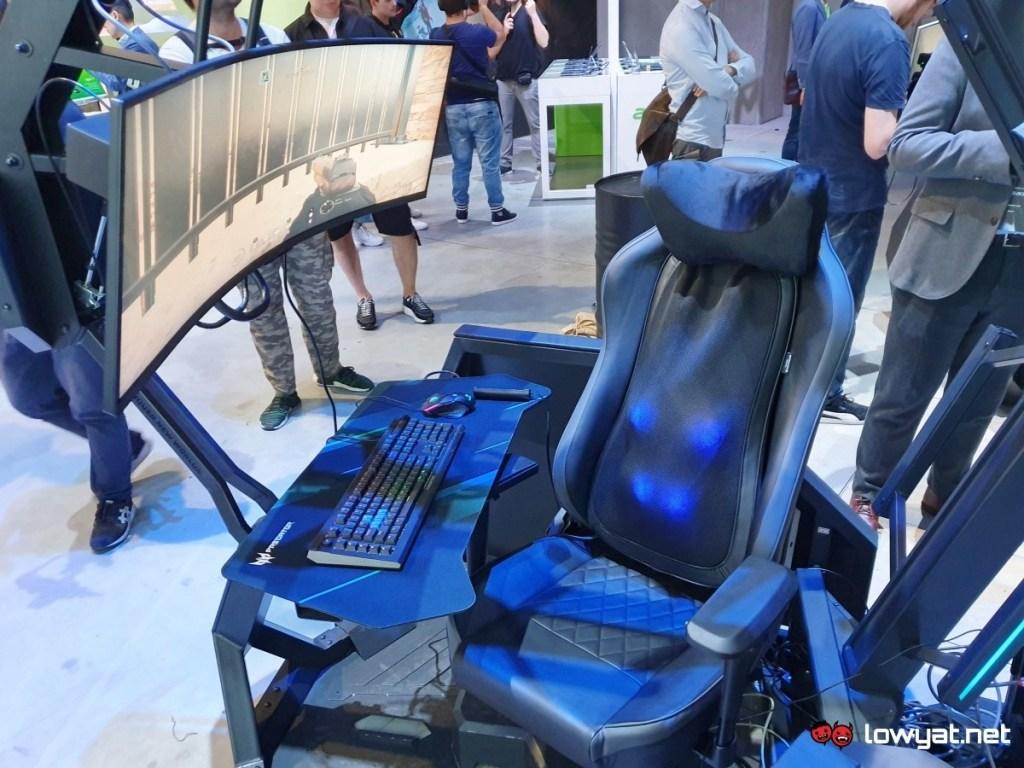Spoločnosť Acer znova prevezme komando masážnou kreslom Predator Thronos Air Gaming 2