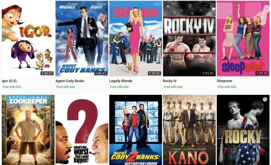 Kostenlose Legale Filme