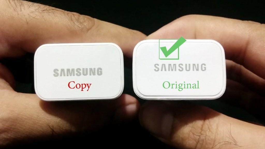 Beachten Sie den Unterschied zwischen dem Schreiben des Wortes Samsung (Bild: mobilefun.co.uk)