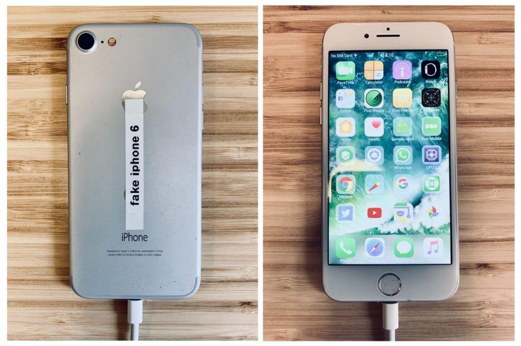 Gefälschtes iPhone 6 ist dem Original sehr ähnlich (Bild: blog.trailofbits.com)