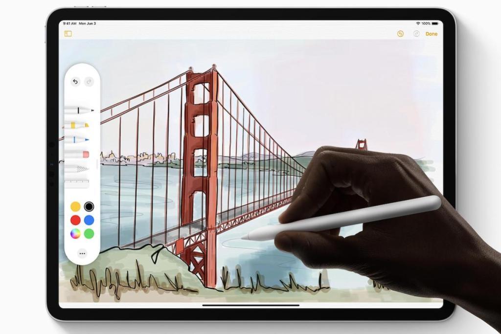 Mit iPadOS ist das Apple Pencil ist stärker in das iPad integriert