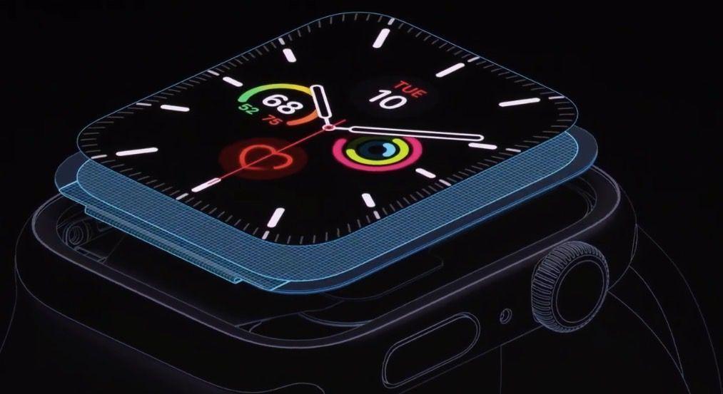 Die Apple Watch 5 hält die Batterie bis zu 18 Stunden, auch wenn der neue Bildschirm immer eingeschaltet ist