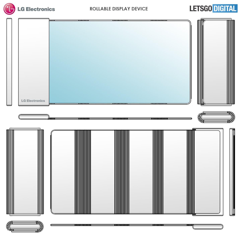 Patente de rollup para smartphone LG