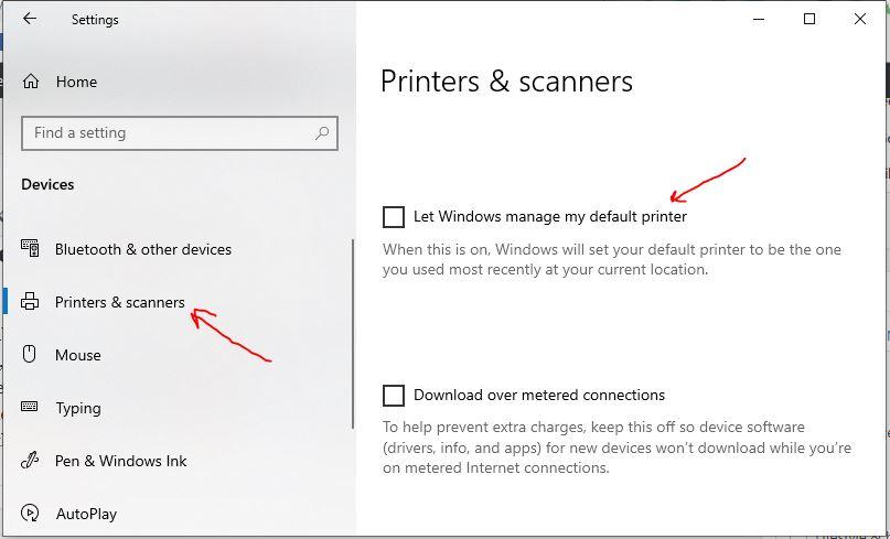 Standarddrucker und Scanner lassen windows 10 Meine Drucker verwalten