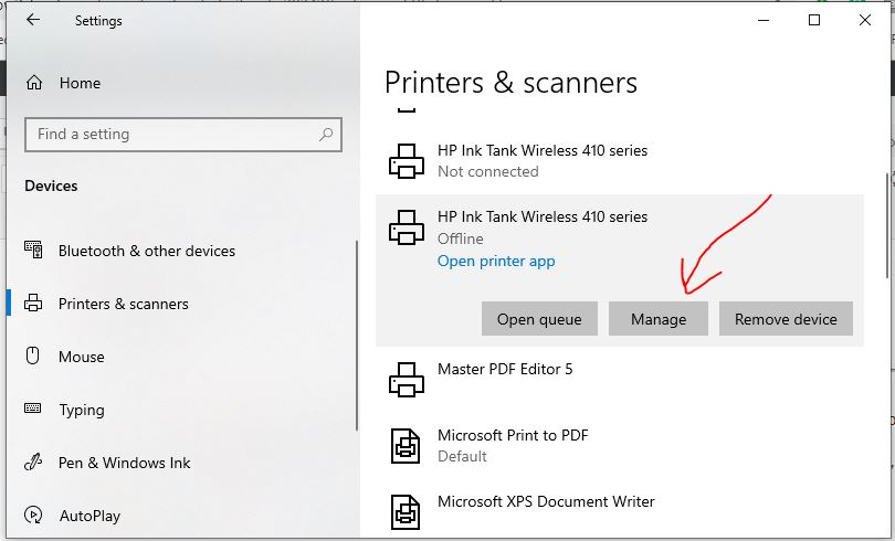 Deaktivierten Drucker einschalten Windows 10