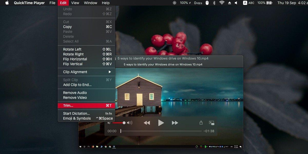 So schneiden Sie Videos unter macOS mit QuickTime 1