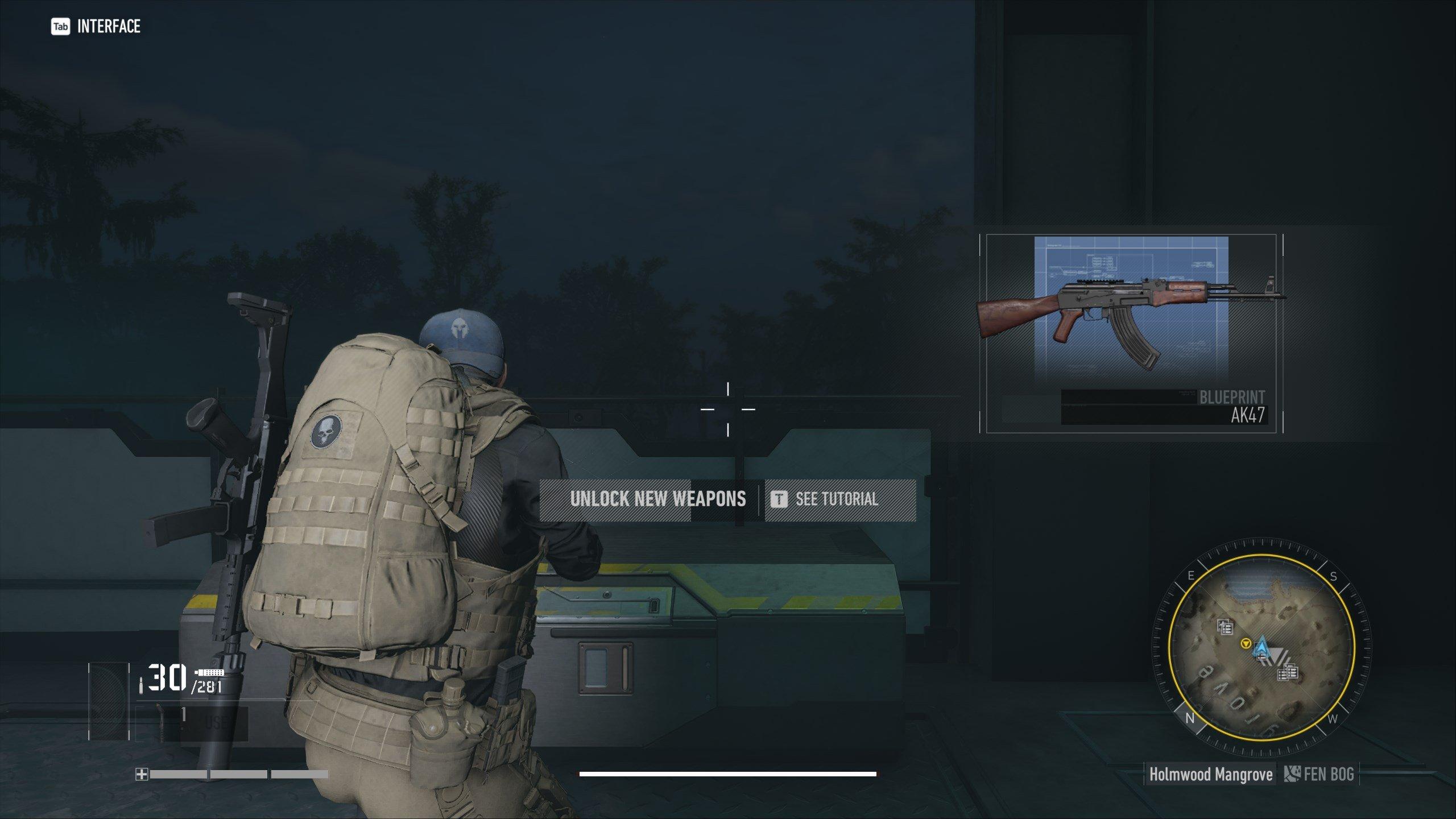 Localização do modelo AK47 - Ponto de interrupção do Ghost Recon