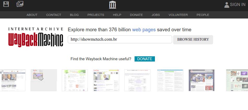 WayBack Machine bietet einen umfassenden Service, mit dem Sie auf alte Seiten zugreifen und diese abrufen können.