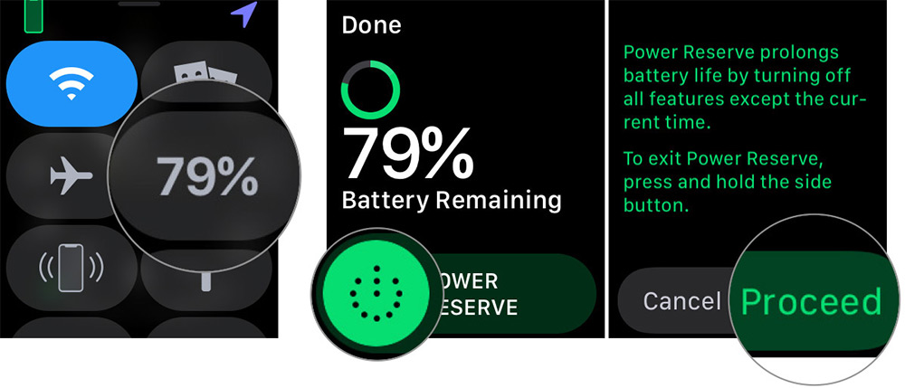 Aktivieren Sie den Power Reserve-Modus Apple Watch