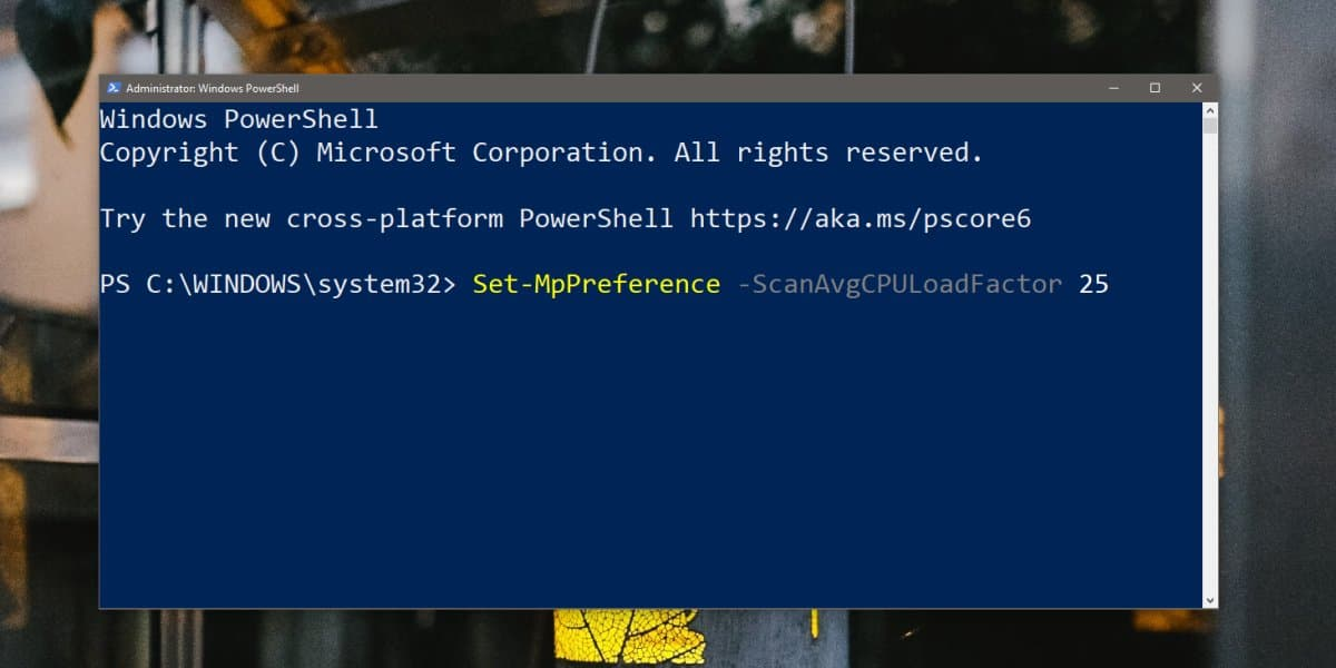 Wie begrenzen Windows Defender-CPU-Auslastung ein Windows 10 2