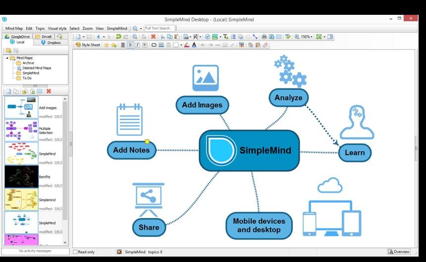 Alles über Mind Mapping Seine Software Für Windows