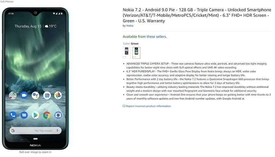 Amazon Die USA haben Vorbestellungen für Nokia 7.2 eröffnet 1