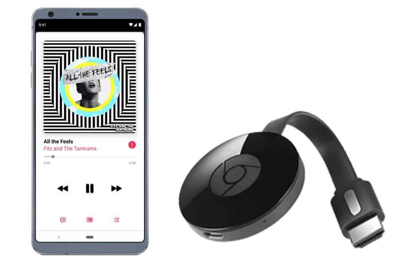 Apple Musik für Android kann nun auch auf Chromecast ausgeführt werden 1